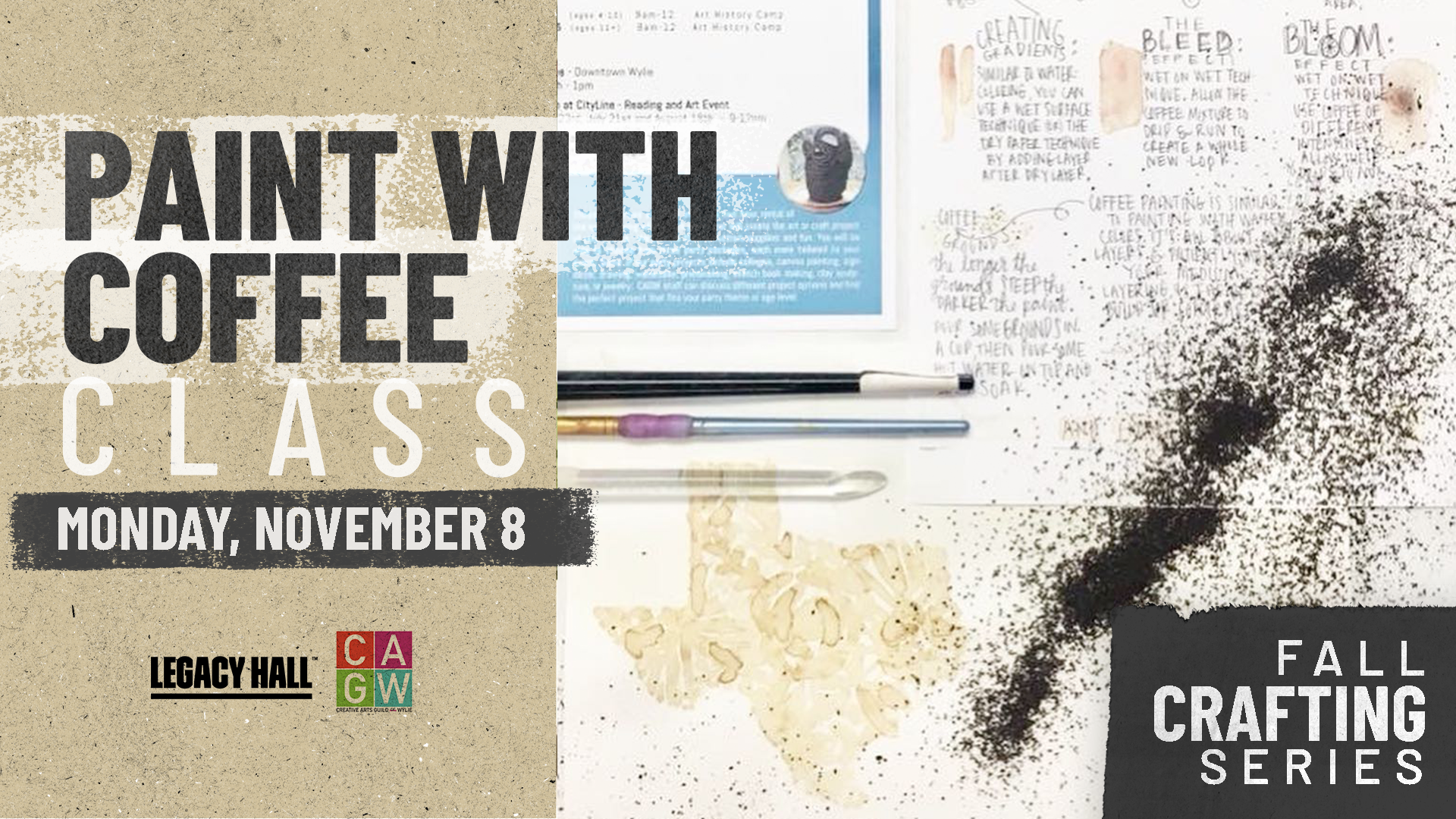 Promo image of Fall Crafting Series: Painting With Coffee