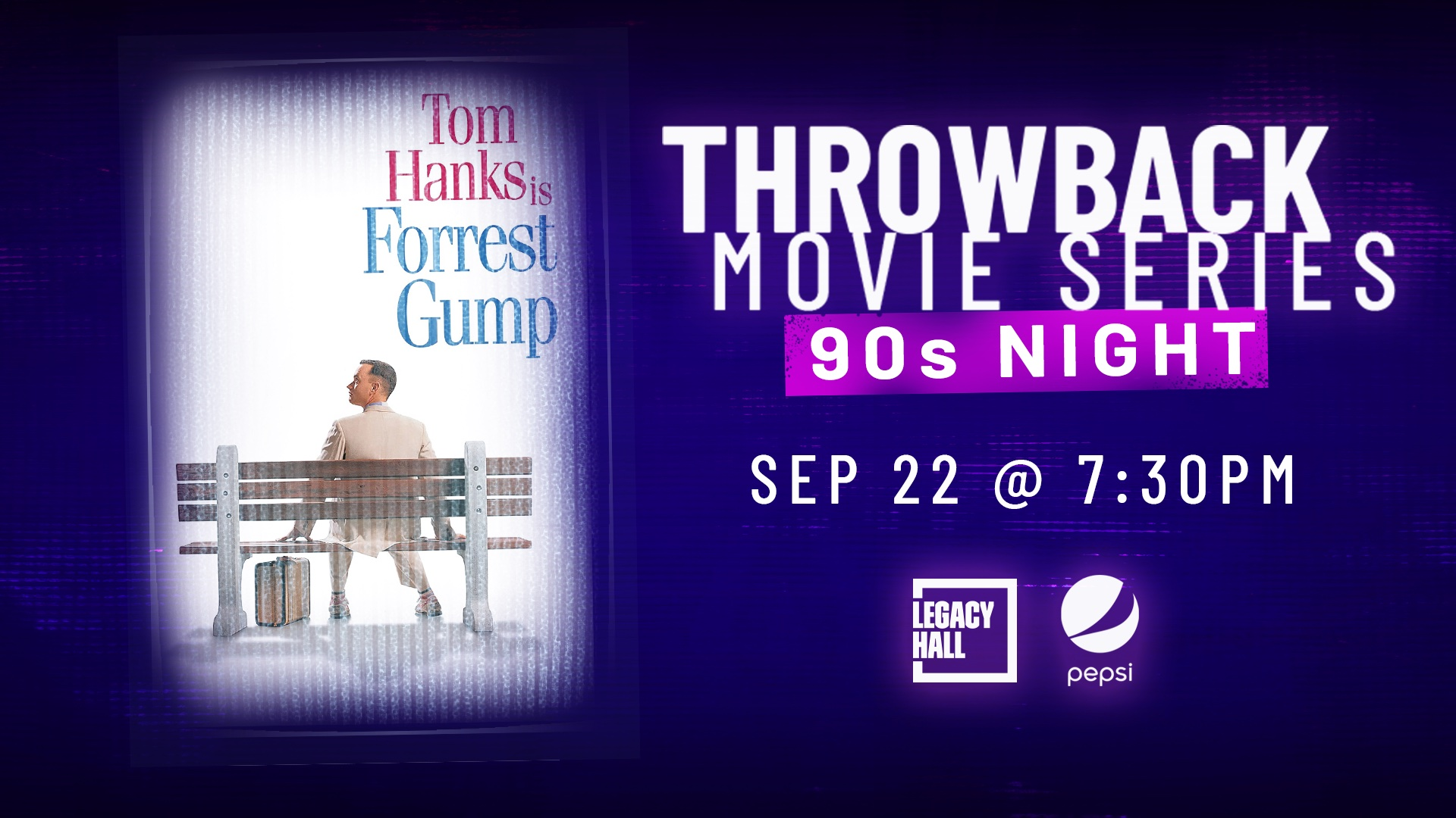 Promo image of Throwback Movie Series: Forrest Gump