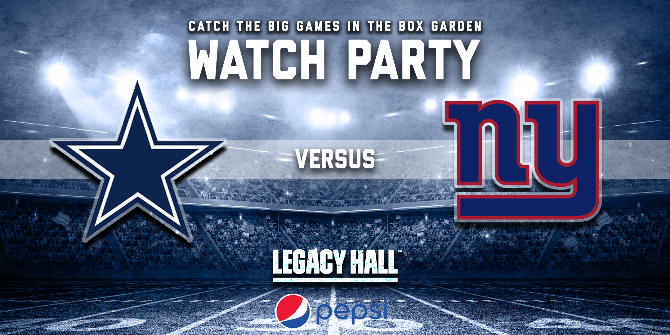 Promo image of Cowboys vs. Giants Watch Party