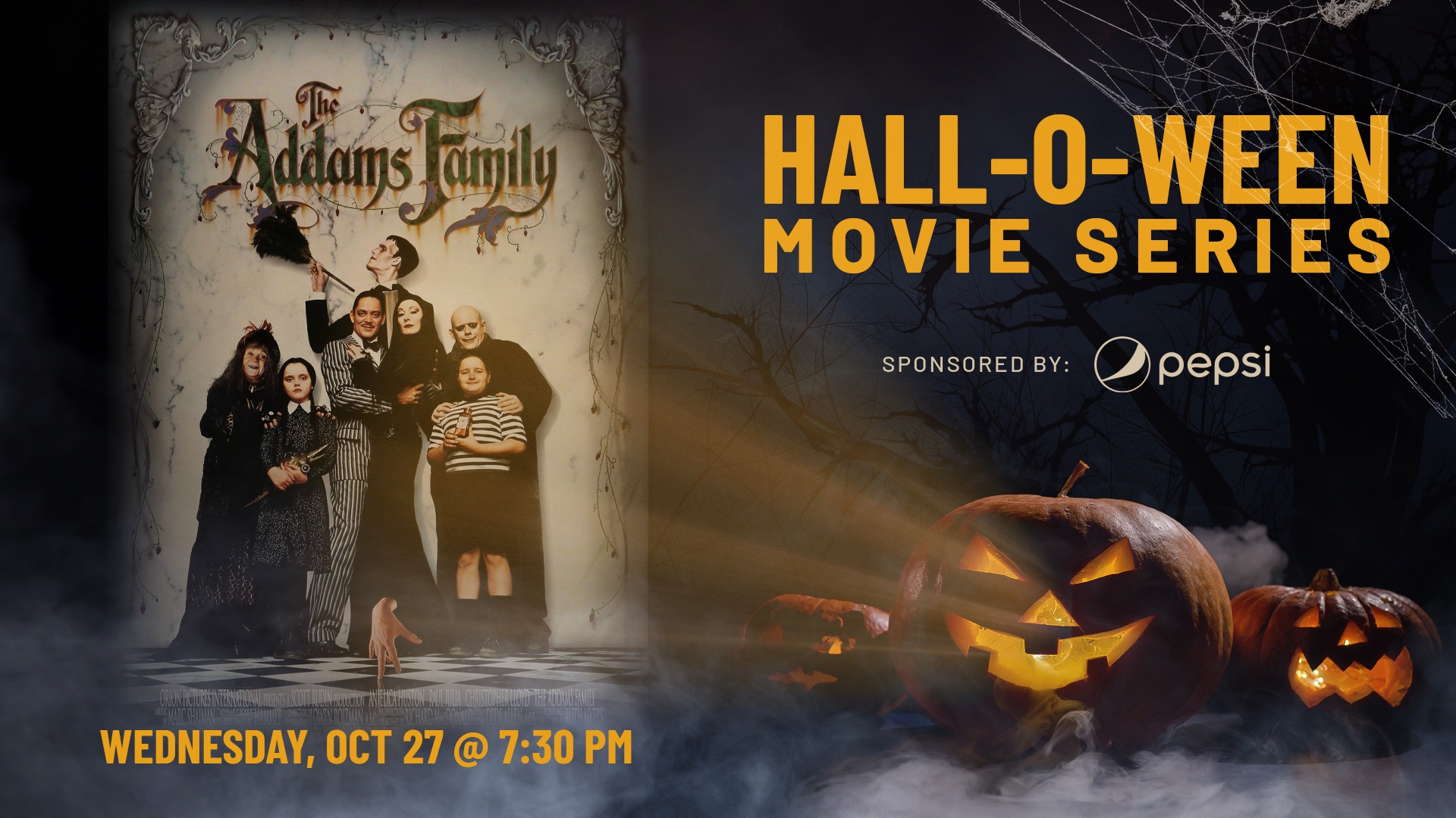 Promo image of Hall-O-Ween Movie Series: The Addams Family