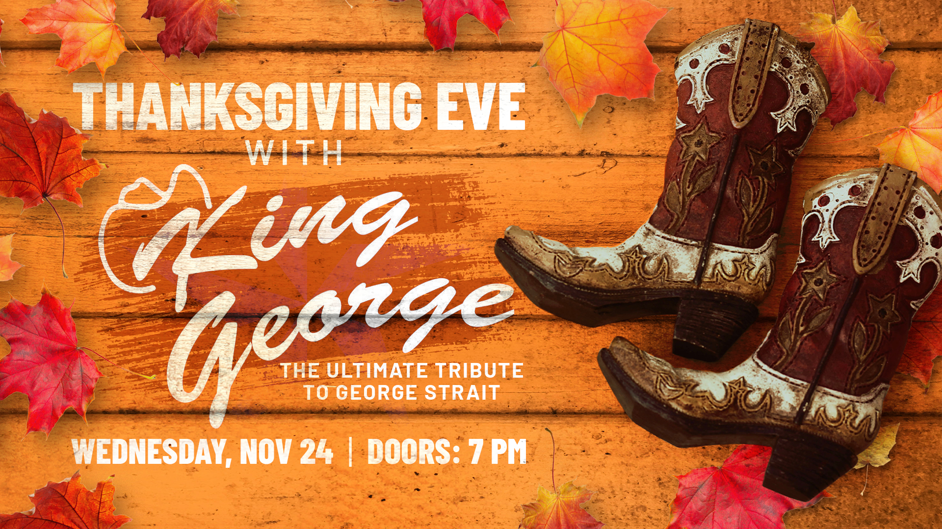 Promo image of Thanksgiving Eve with King George