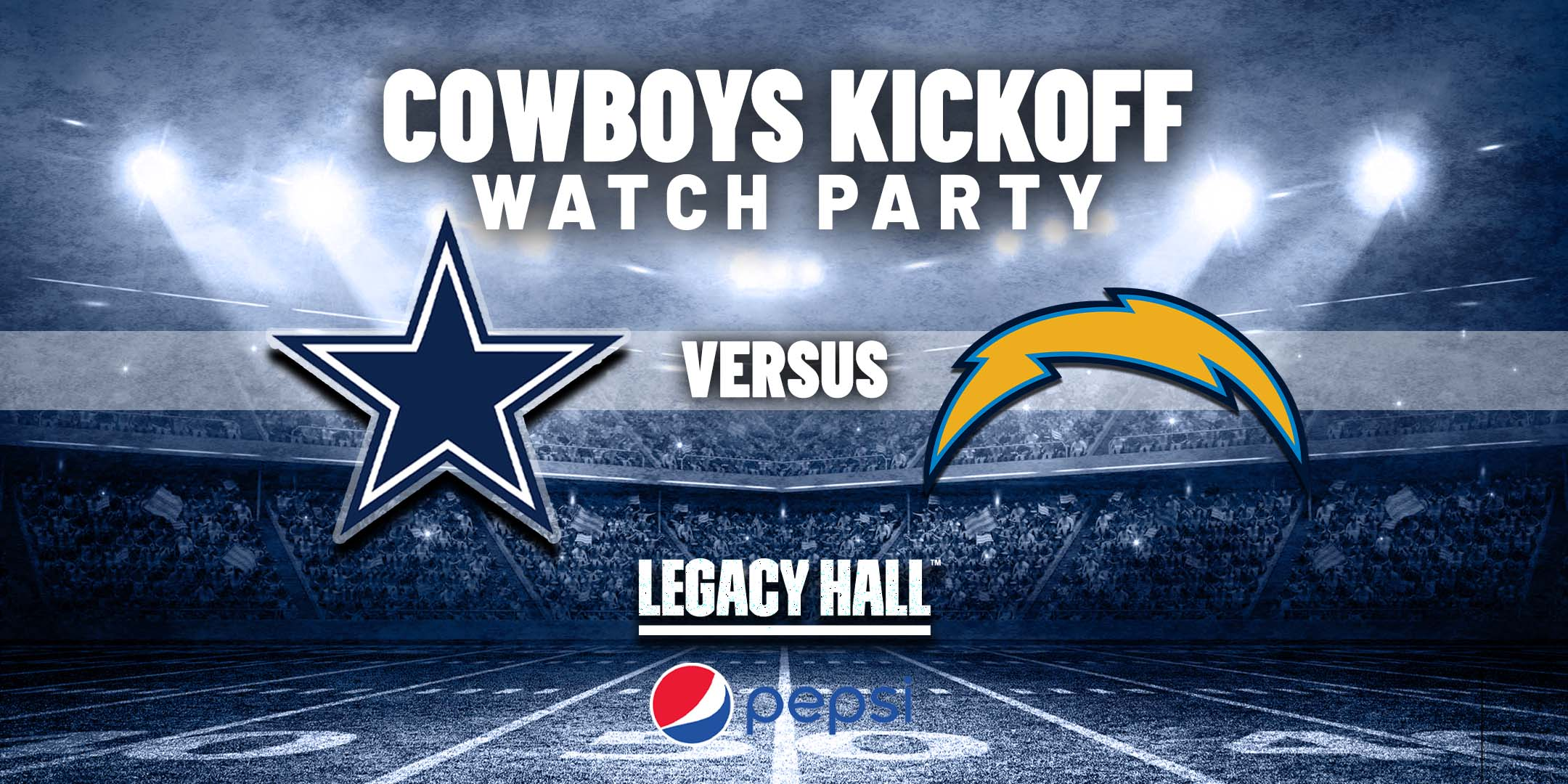 Promo image of Cowboys vs. Chargers Watch Party