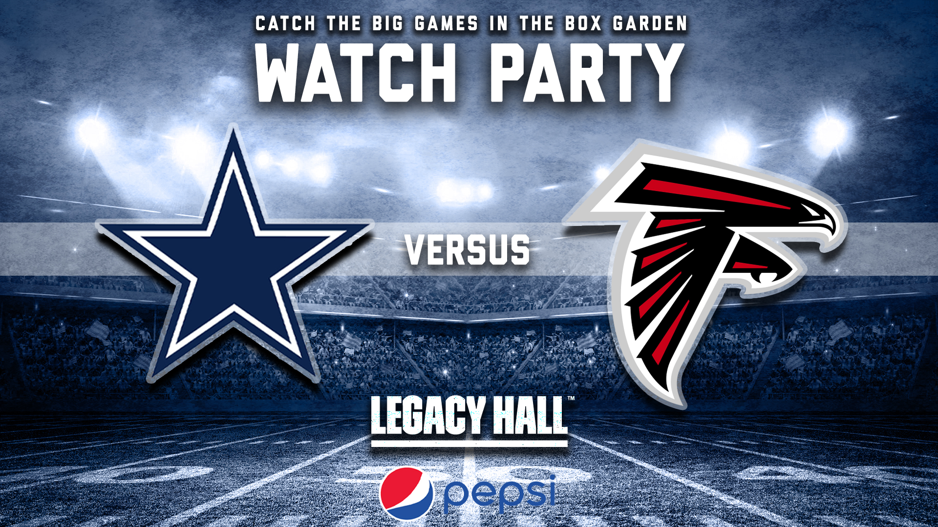 Promo image of Cowboys vs. Falcons Watch Party