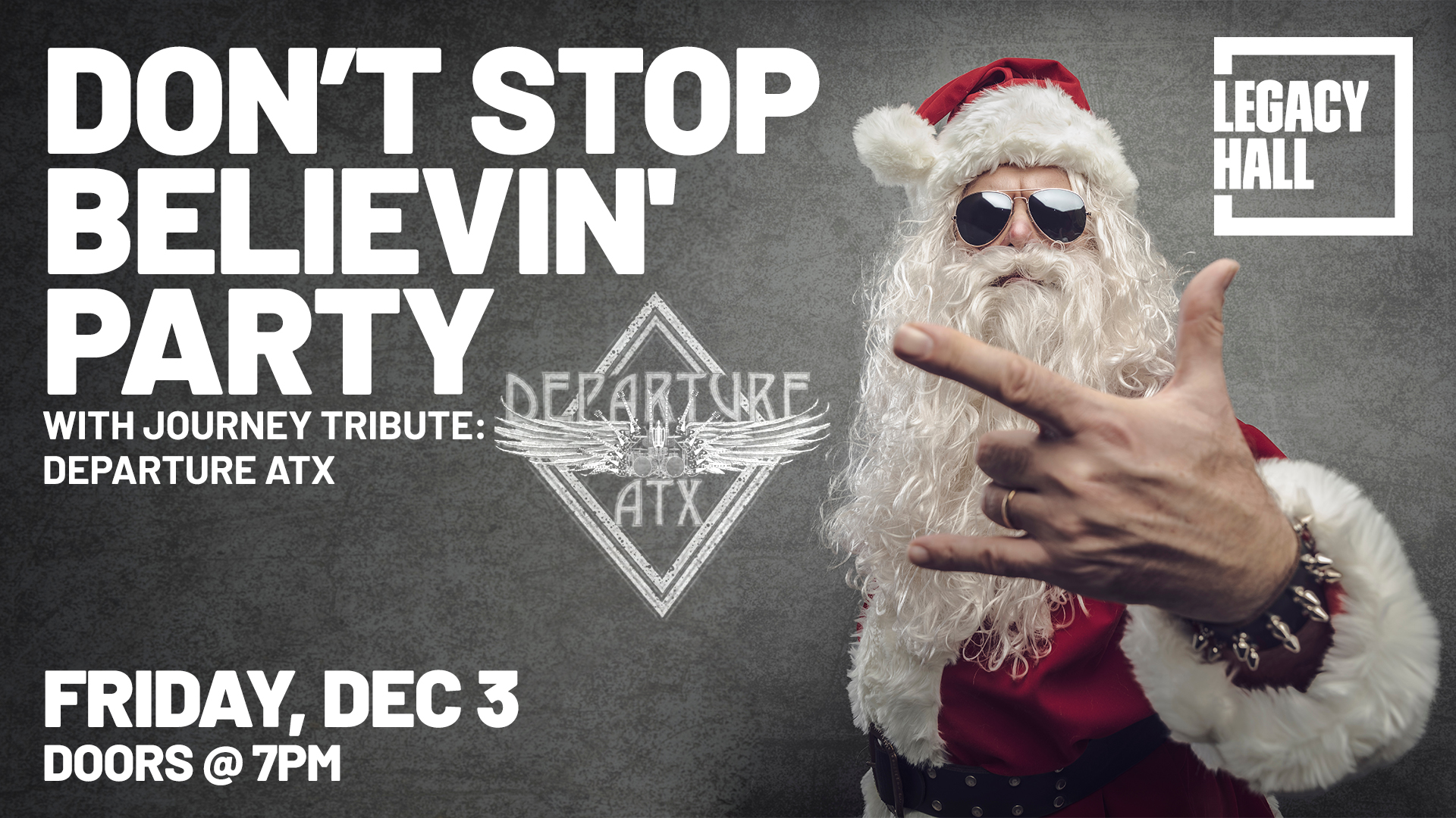 Promo image of Don't Stop Believin' Party with Departure ATX