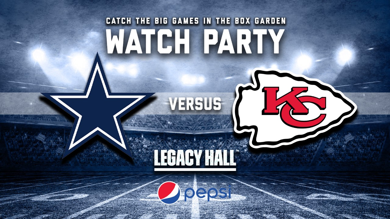 Promo image of Cowboys vs. Chiefs Watch Party